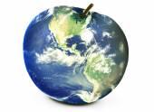 Světová mapa jablko