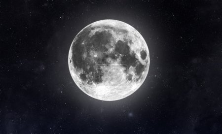 Moon in dark space