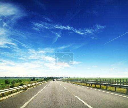 asphalt road at summer