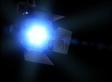 Spotlight on black background