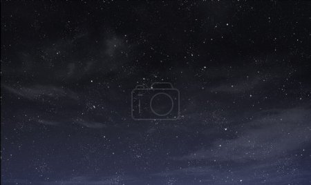 Photo for Blue night sky with white and grey clouds - Royalty Free Image