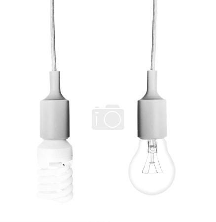 Lamps on white backgroun