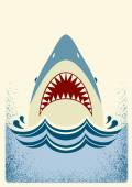 Shark jawsVector color illustration