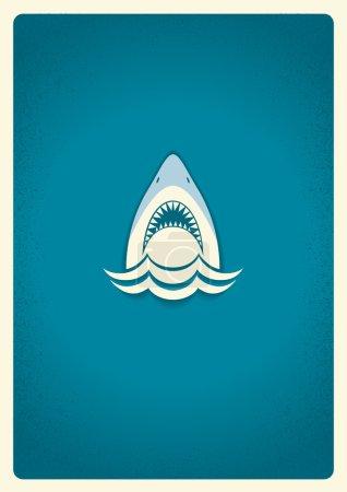 Shark jaws logo.Vector blue symbol illustration for text