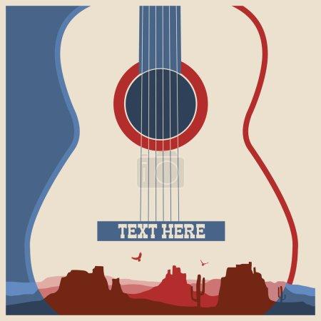 Concert poster of music festival.