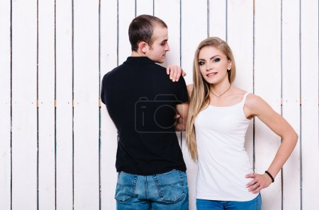 Happy couple have fun