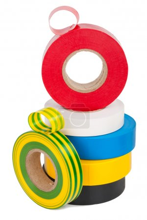 Multicolored insulating tapes roll
