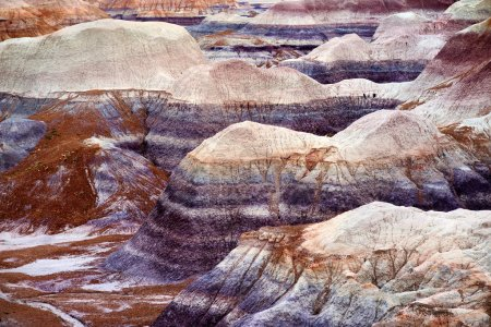 Striped purple sandstone formations
