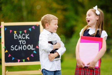 little kids going back to school