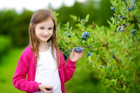 girl picking fresh berries