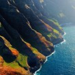 Beautiful aerial view of spectacular Na Pali coast...