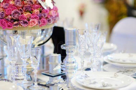 Wedding party table set