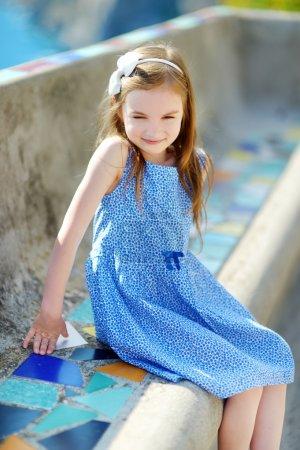 little girl on summer day