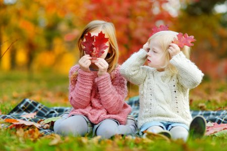 sisters  in autumn park