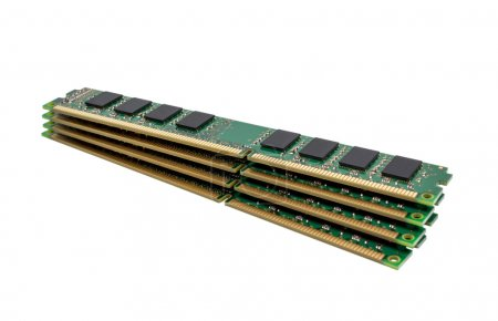 Photo for Electronic collection - computer random access memory (RAM) modules isolated on the white background - Royalty Free Image