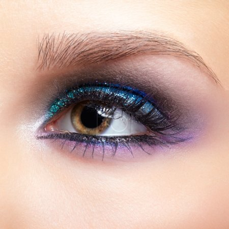 Female eye zone makeup