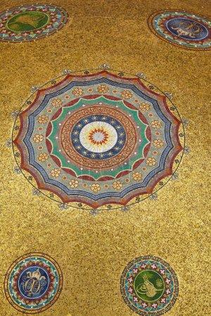 The golden mosaics of German Fountain, Istambul