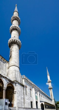 The minarets of Sultan Ahmed Mosque, Istanbul