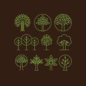 Vektorové ikony organické strom