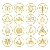 Vector yoga icons