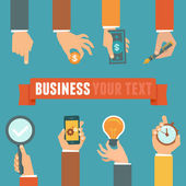 Vector business and management concept