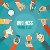 Vector business and management concept in flat style