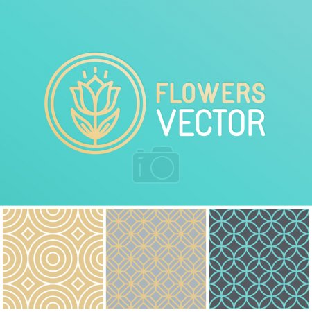 Vector floral logo design element