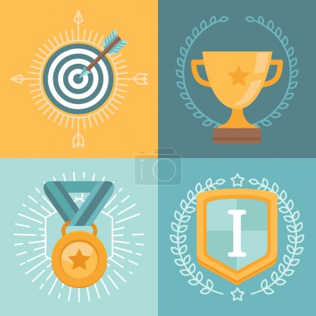 Vector achievement badges