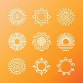 Vector summer concepts in linear style