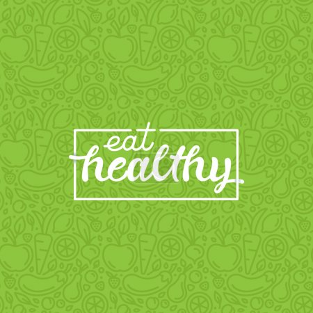 Eat healthy - hand-lettering phrase