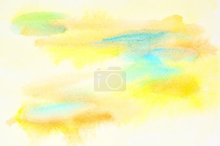 Pastel yellow abstract watercolor