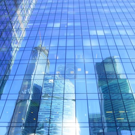 Photo for Reflections of modern office buildings - architectural and business background - Royalty Free Image