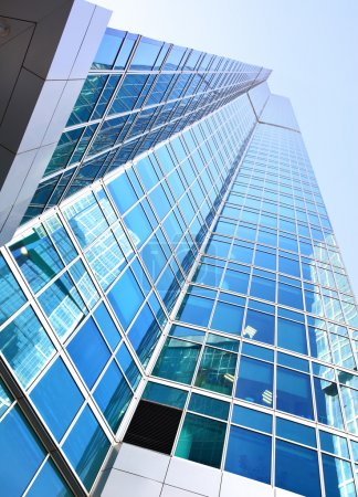 Photo for Modern office buildings with reflection - Royalty Free Image