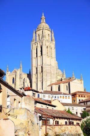Photo pour Clocher de la cathédrale de Ségovie, Espagne - image libre de droit