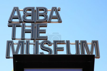 ABBA Museum sign