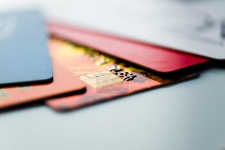 Photo for Close-up colorful Credit cards - Royalty Free Image