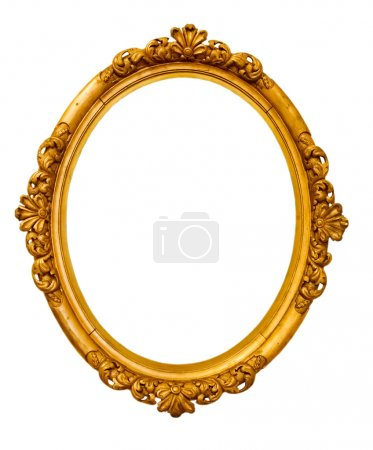 Photo for Vintage gold frame, isolated on white - Royalty Free Image