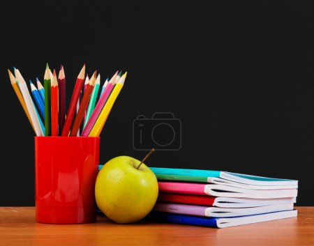 Photo for Schoolchild and student studies accessories. Back to school concept. - Royalty Free Image