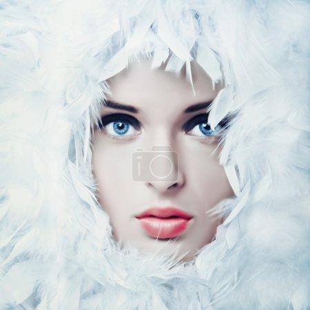 Swan girl beauty photo