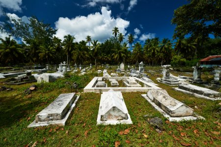Old cemetery at Seychelles