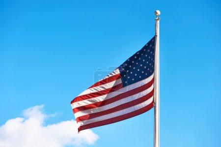 US American flag waving in the wind