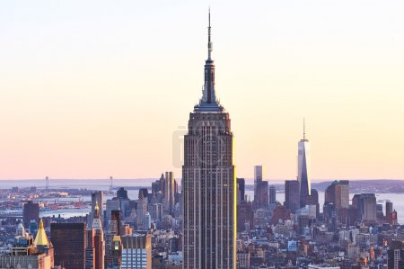 Cityscape view of Manhattan with Empire State Buil...