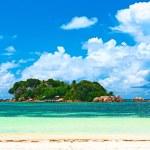 Beautiful tropical island at Seychelles...