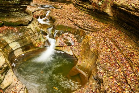 Cave waterfall at Watkins Glen