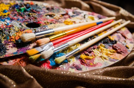 Photo for Artist palette in art concept - Royalty Free Image