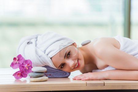 Photo for Young woman in spa concept - Royalty Free Image