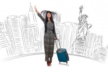 Photo for Young woman travelling to USA - Royalty Free Image
