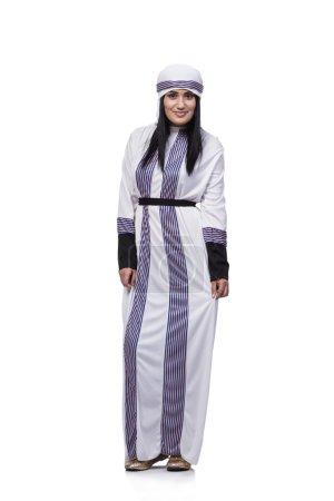 Photo pour Arabe femme isolé sur le fond blanc - image libre de droit