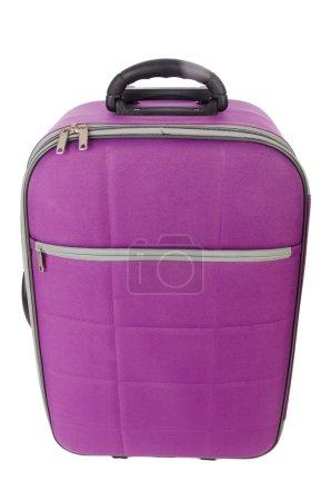 Photo pour Concept de voyage avec valise isolée sur blanc - image libre de droit