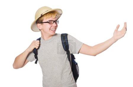 Photo pour Chapeau homme en safari dans le concept de chasse - image libre de droit